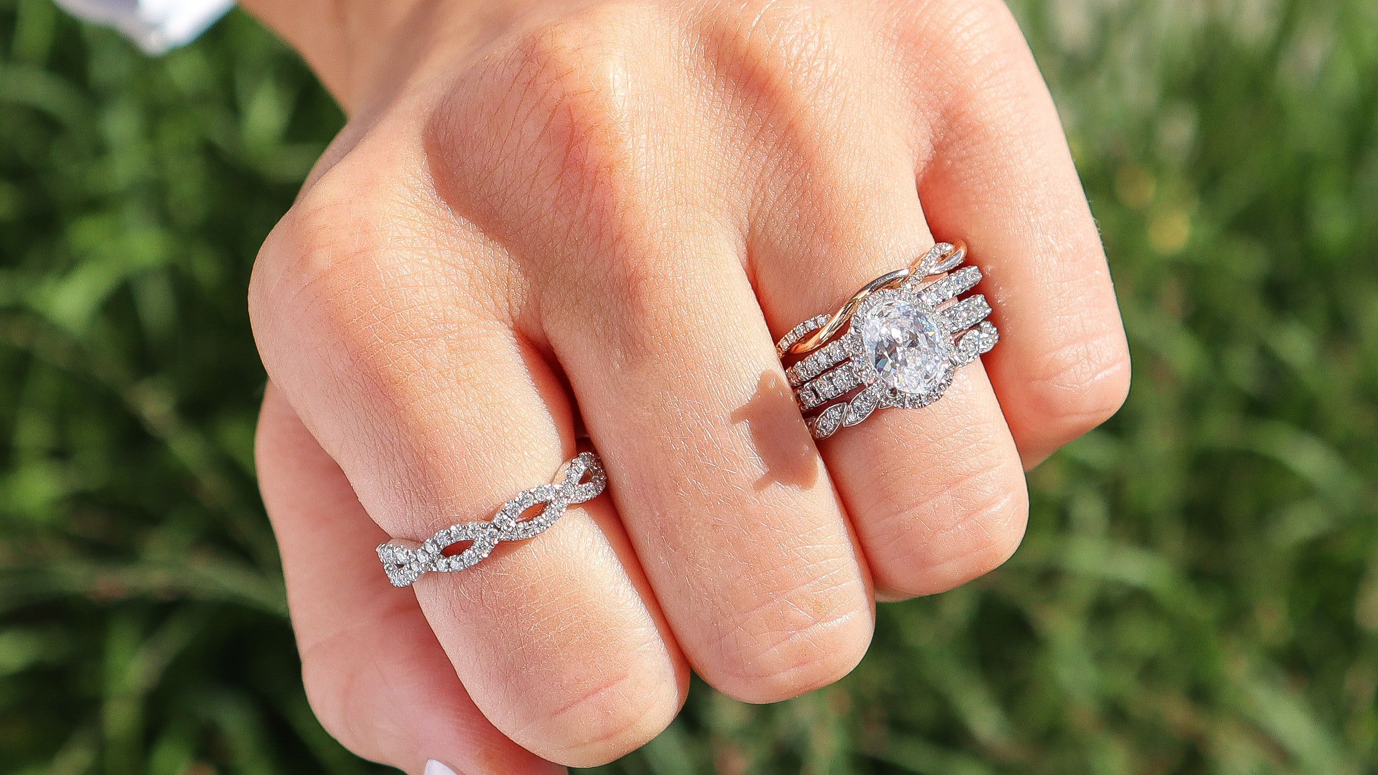 Create Your Engagement Ring + Wedding Band Stack!